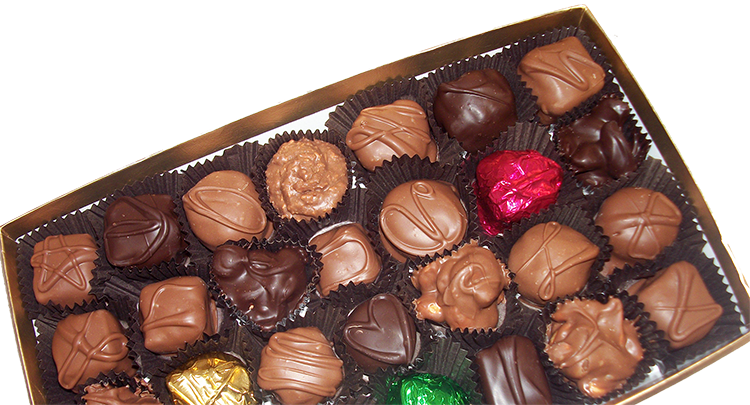 Boxed Chocolates Angled