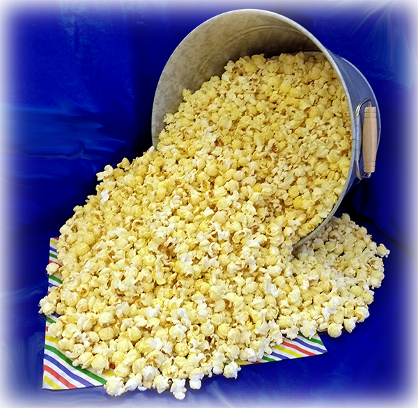 Kettle corn bucket lying down